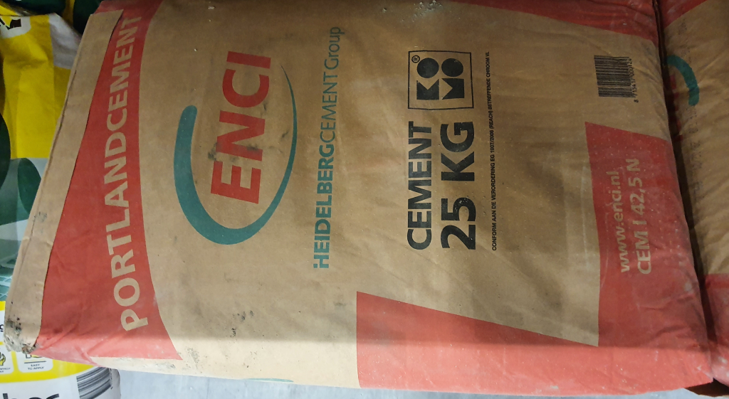 How many bags of Portland cement per batch