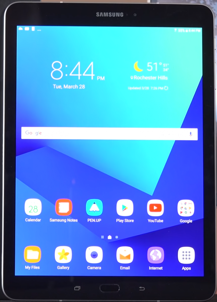 How to reset a Samsung Galaxy tablet 3