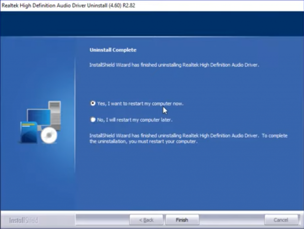 How to uninstall or delete Realtek HD audio manager
