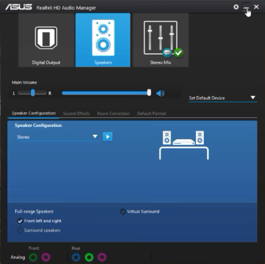 The Realtek HD Audio Manager is missing on Windows 10