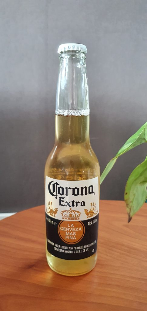 What is Corona's alcohol content?